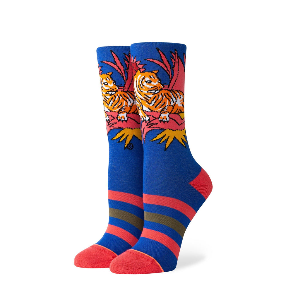 Stance Women's Tiger Belly Crew Socks (Cobalt) - Accessories - Socks