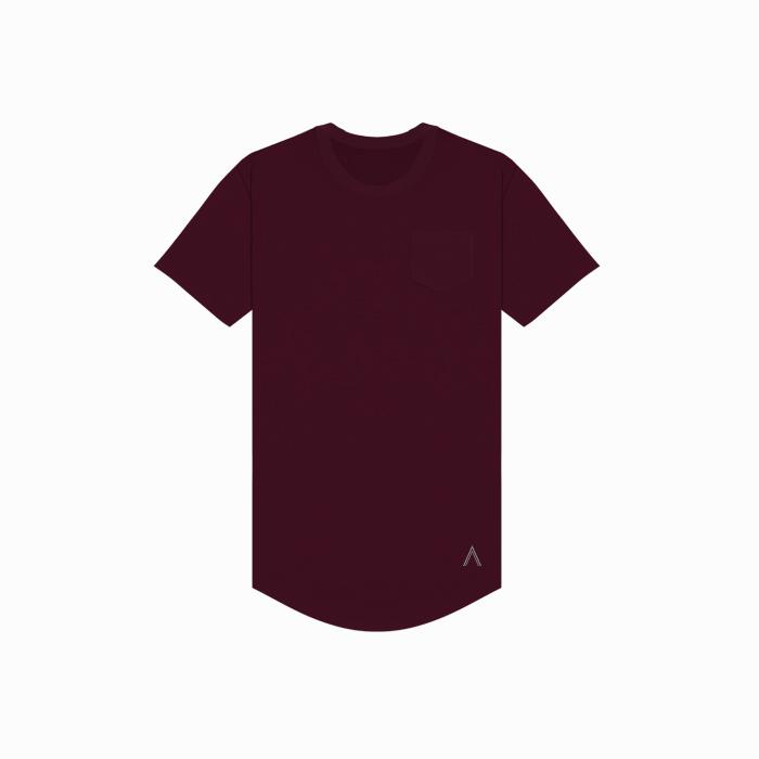 Acrux Scoop Pocket Tee (Maroon) - Acrux Scoop Pocket Tee (Maroon) -