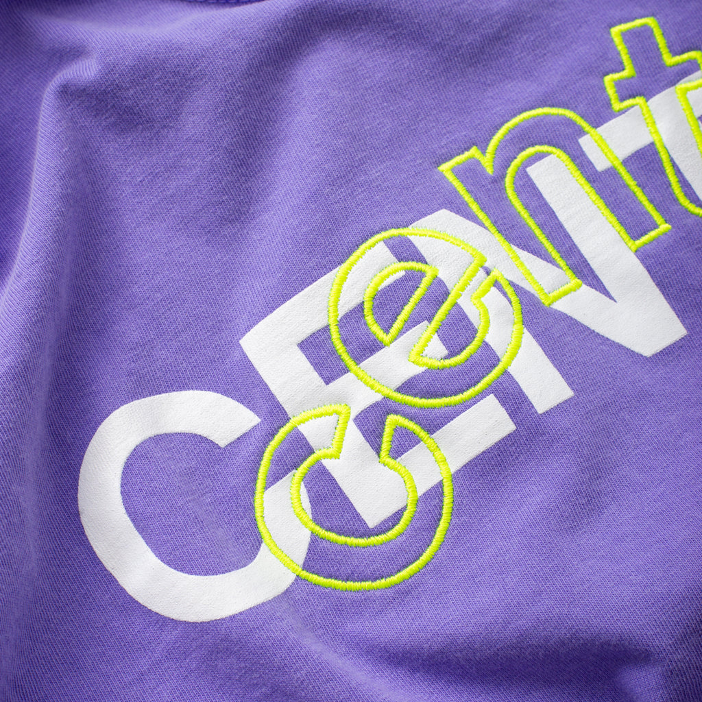 Centre Mixed Media Block Tee (Purple)