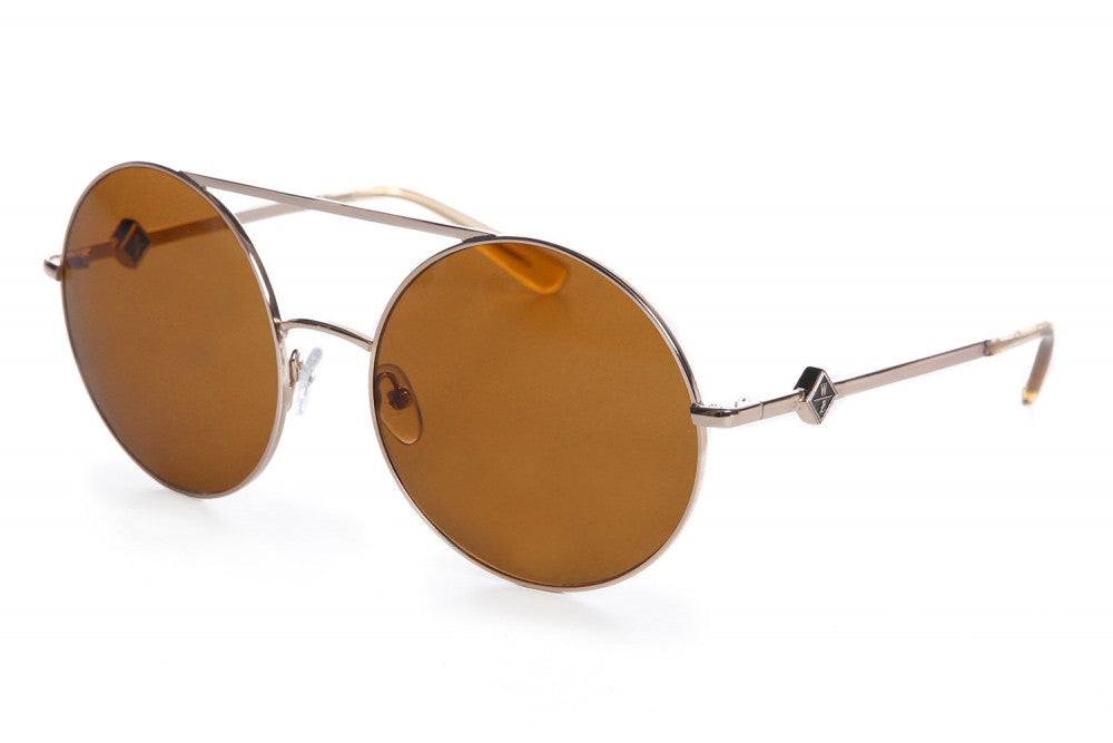 Wonderland Blythe Sunglasses (Gold Metal/Bronze CZ)