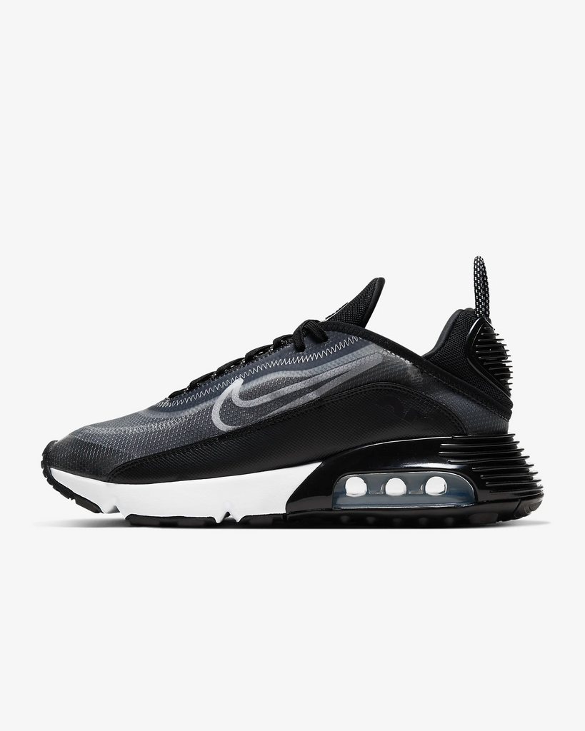 Nike Women's Air Max 2090 (Black/White/Metallic Silver)