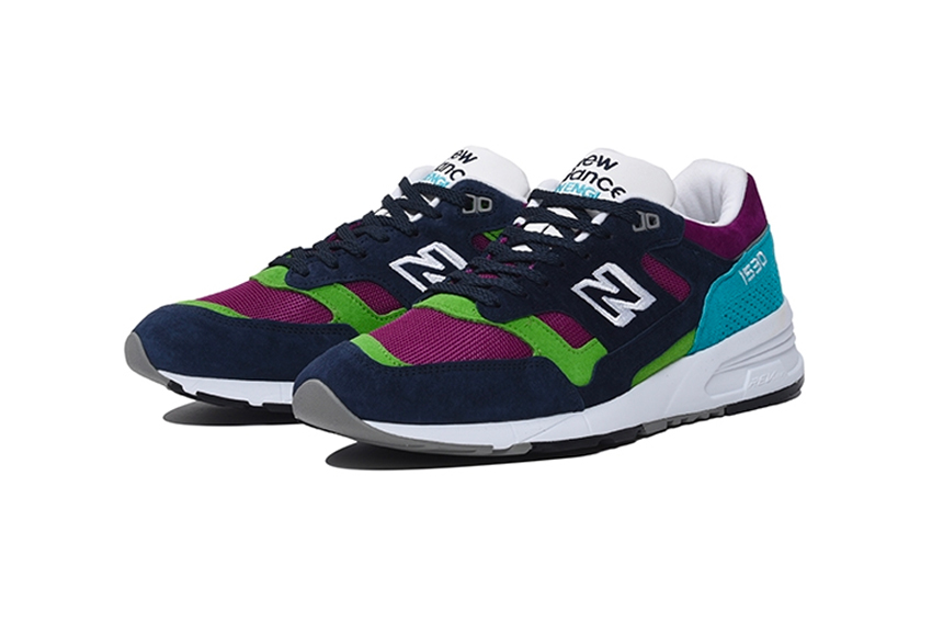 New Balance 1530 Made In England (Purple/Navy/Green) - New Balance