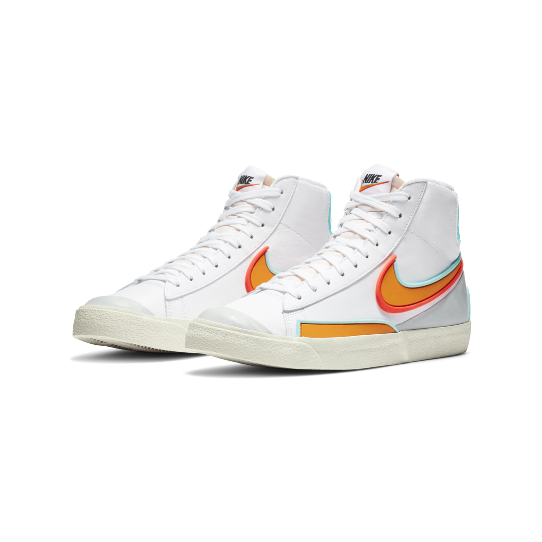 Nike Blazer Mid '77 Infinite (White/Kumquat-Aurora Green) - Nike Blazer Mid '77 Infinite (White/Kumquat-Aurora Green) -