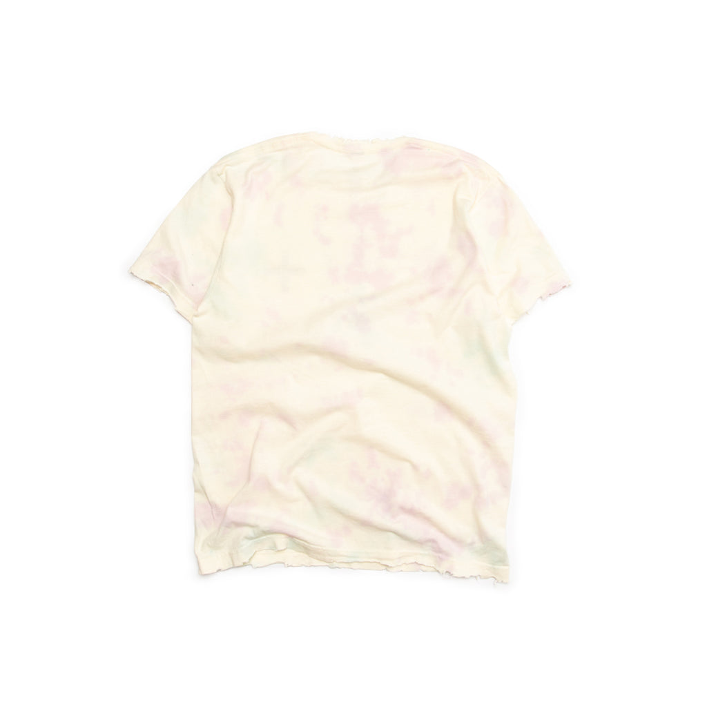 Centre Distressed Watercolor Cross Tee (Purple/Green)