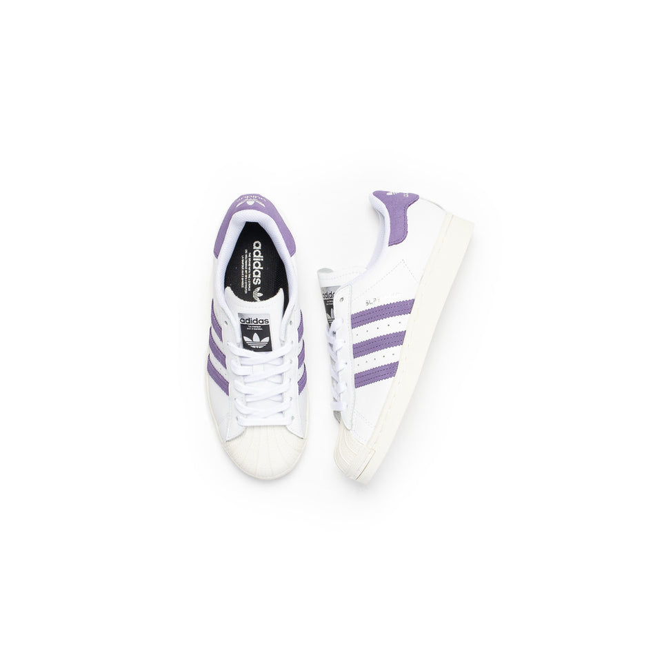 Adidas Women's Superstar (Cloud White/Tech Purple-Off White) - Adidas