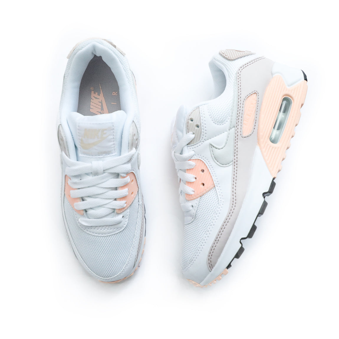 Nike Women's Air Max 90 (White/Platinum Tint/Barely Rose) - Nike Women's Air Max 90 (White/Platinum Tint/Barely Rose) -