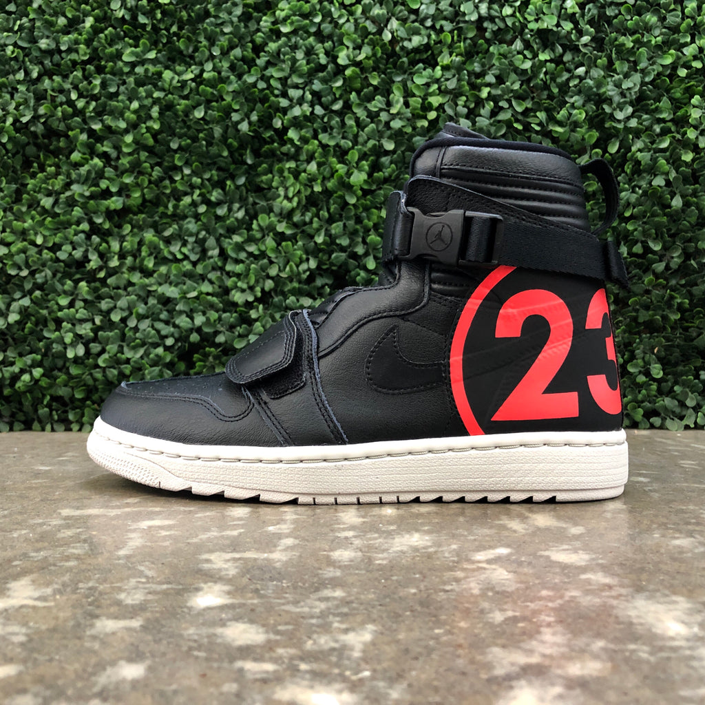 Air Jordan 1 Moto (Black/Infrared 23/Light Bone)