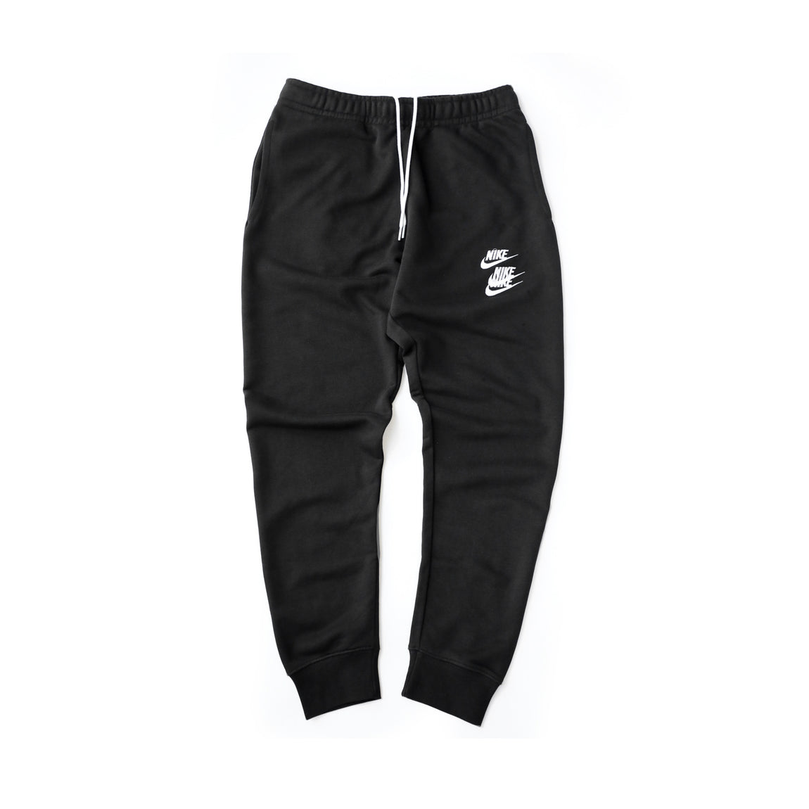 Nike Sportswear French Terry Stacked Logo Pants (Black) - Nike Sportswear French Terry Stacked Logo Pants (Black) -