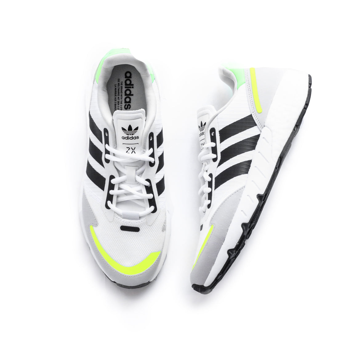 Adidas ZX 1K Boost (Footwear White/ Core Black/ Solar Yellow) - Adidas ZX 1K Boost (Footwear White/ Core Black/ Solar Yellow) -