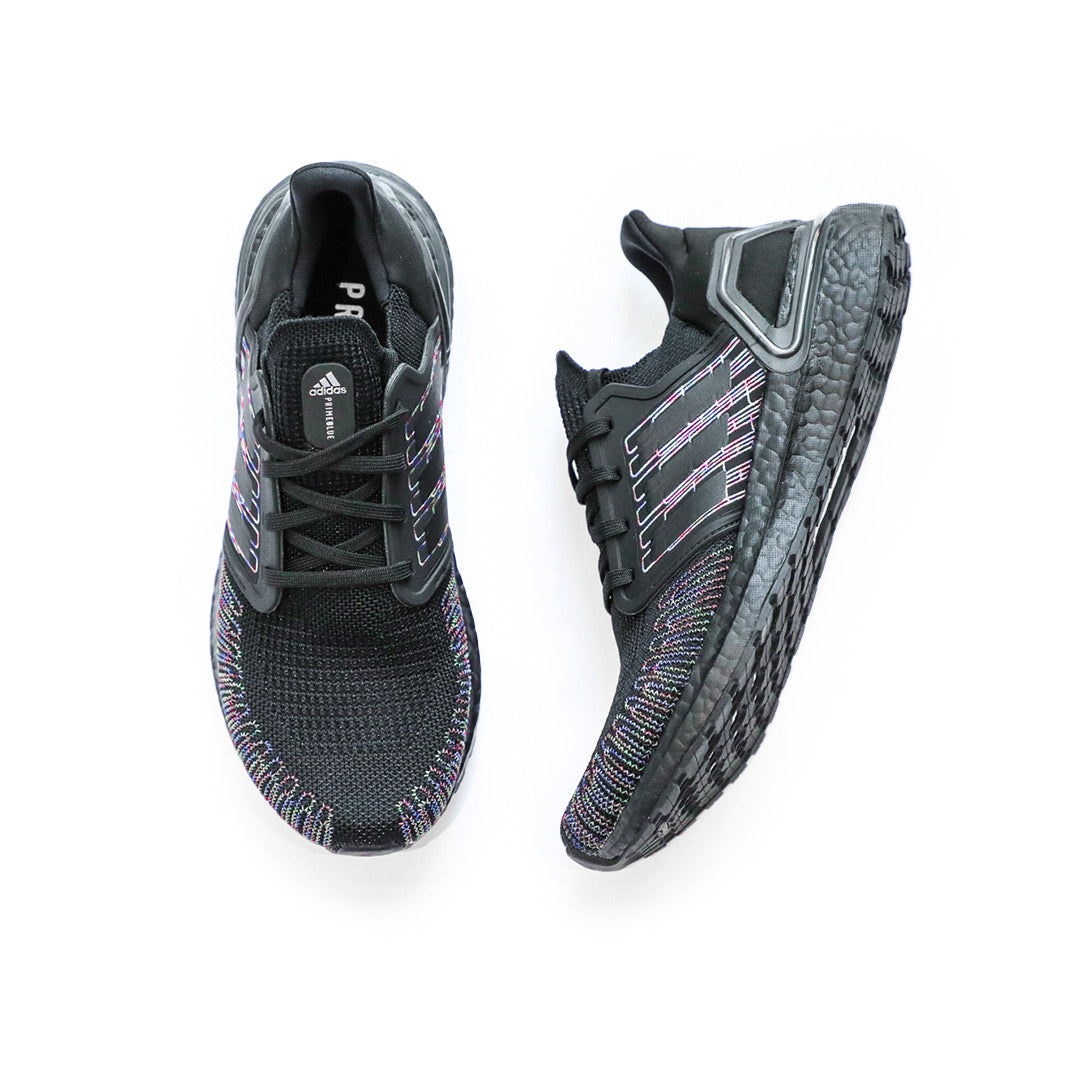 Adidas UltraBoost 20 (Core Black/Signal Red) - Adidas UltraBoost 20 (Core Black/Signal Red) -