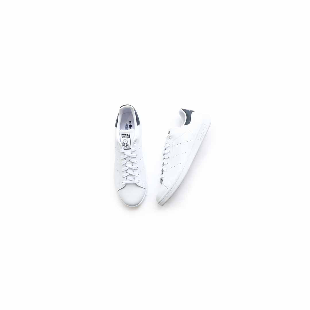 Adidas Stan Smith (Core White/Core White/Dark Blue) - Adidas Stan Smith (Core White/Core White/Dark Blue) -