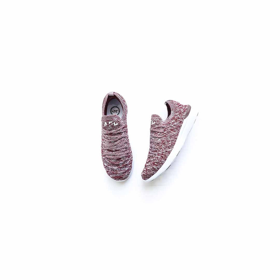 APL Women's Techloom Wave (Burgundy/White/Melange) - APL
