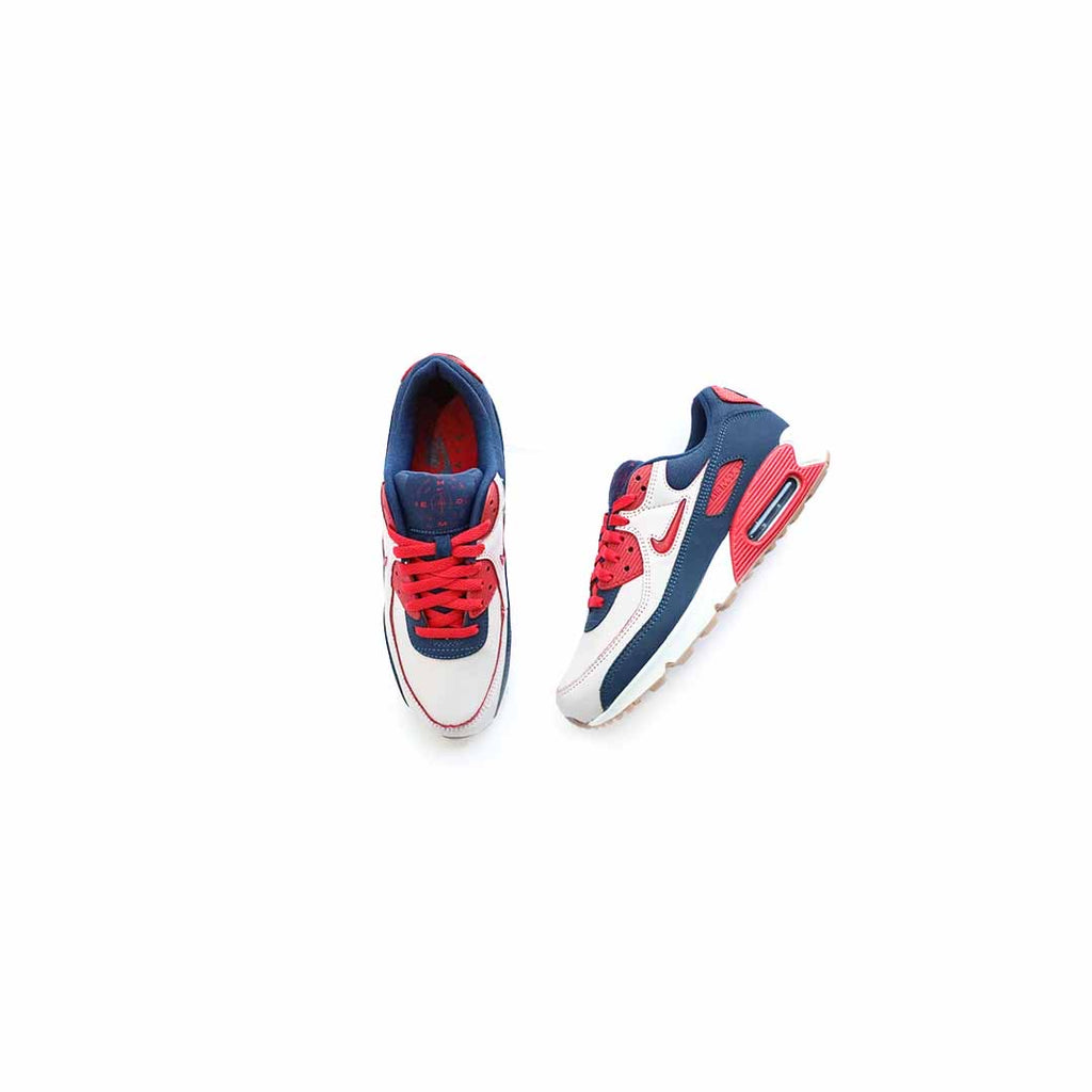 Air Max 90 PRM (Sail/University Red)