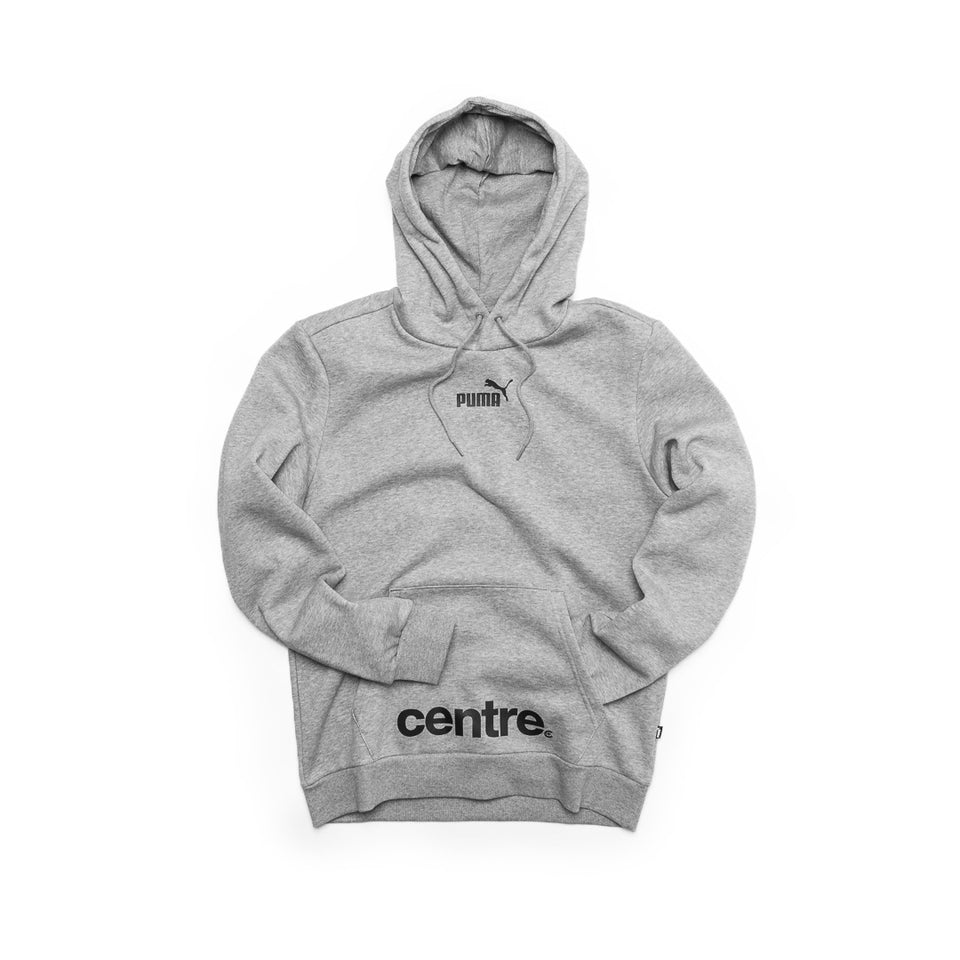 Centre X Puma Pullover Hoodie (Heather Grey) - Centre - Hoodies and Sweatshirts