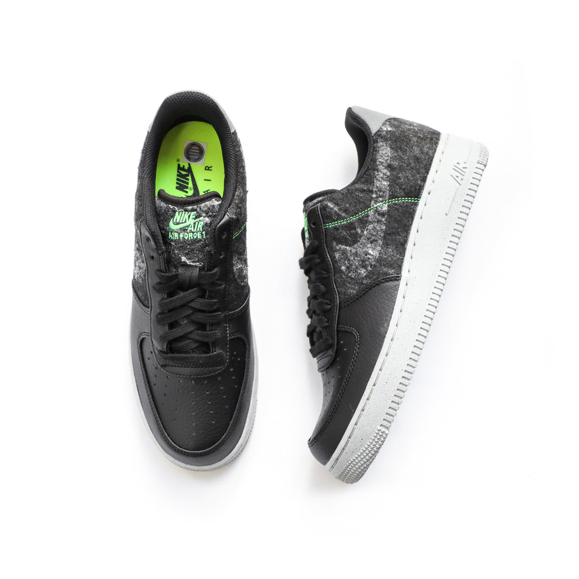 Nike Air Force 1 '07 LV8 (Black/Clear-Electric Green) - Nike Air Force 1 '07 LV8 (Black/Clear-Electric Green) -