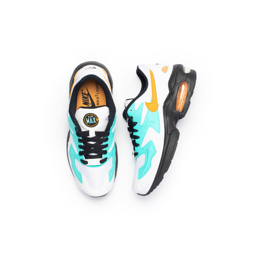 Nike Women's Air Max2 Light (White/Amber Rise/Aurora Green)