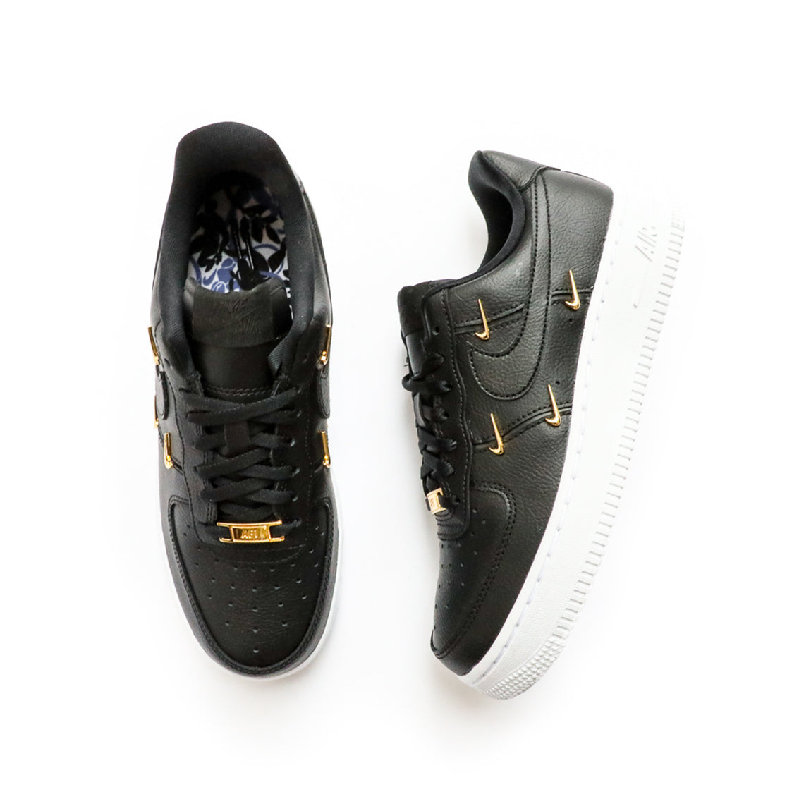 Nike Women's Air Force 1 '07 LX (Black/Metallic Gold/Hyper Royal) - Nike Women's Air Force 1 '07 LX (Black/Metallic Gold/Hyper Royal) -