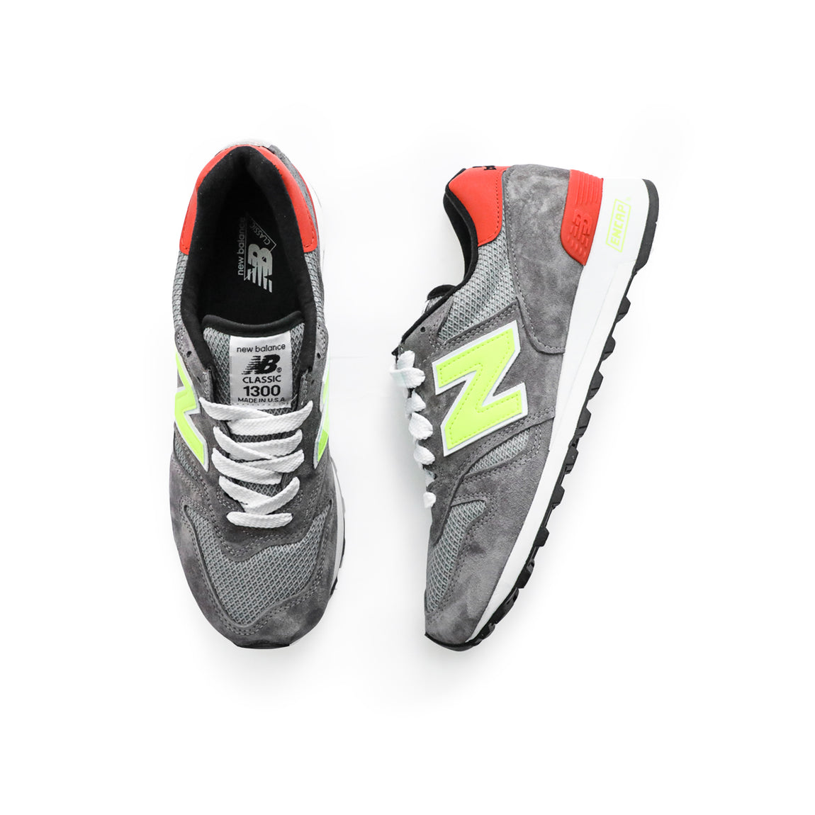 New Balance Made In USA 1300 (Grey/Yellow) - Centre