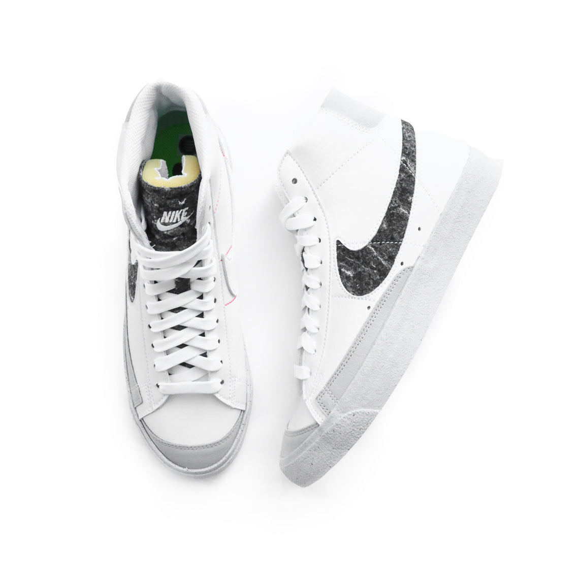 Nike Blazer Mid '77 (White/White-Light Smoke Grey) - Nike Blazer Mid '77 (White/White-Light Smoke Grey) -