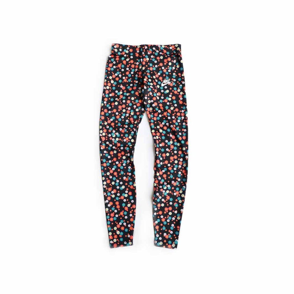 Nike Women's Floral Heritage Tights (Black/White/Multi) - Women's - Bottoms