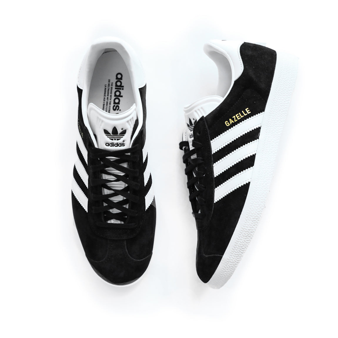 Adidas Gazelle (Core Black/White/Gold Metallic) - Adidas Gazelle (Core Black/White/Gold Metallic) -