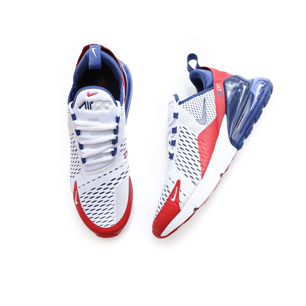 Nike Air Max 270 White University Red Deep Royal Centre