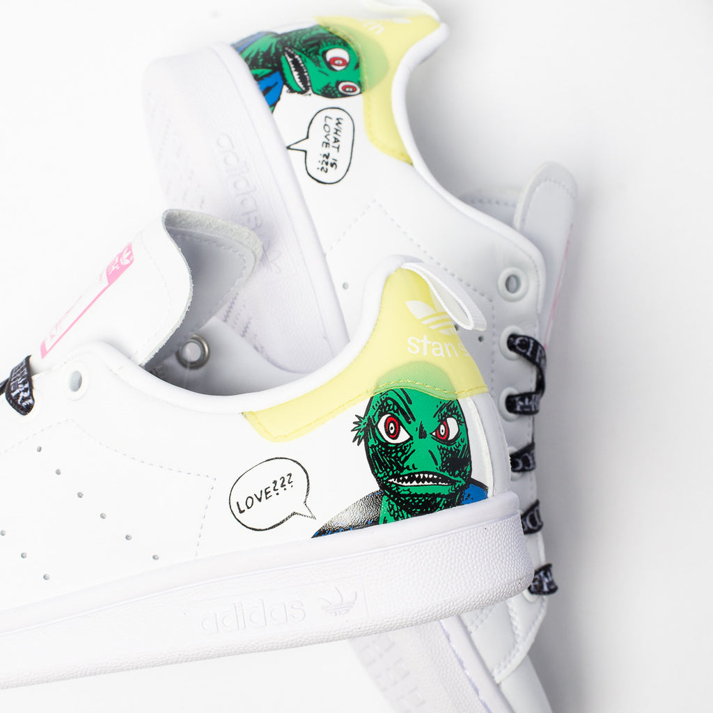 Adidas x Fiorucci Women's Stan Smith (Cloud White/Core Black- Cloud White)
