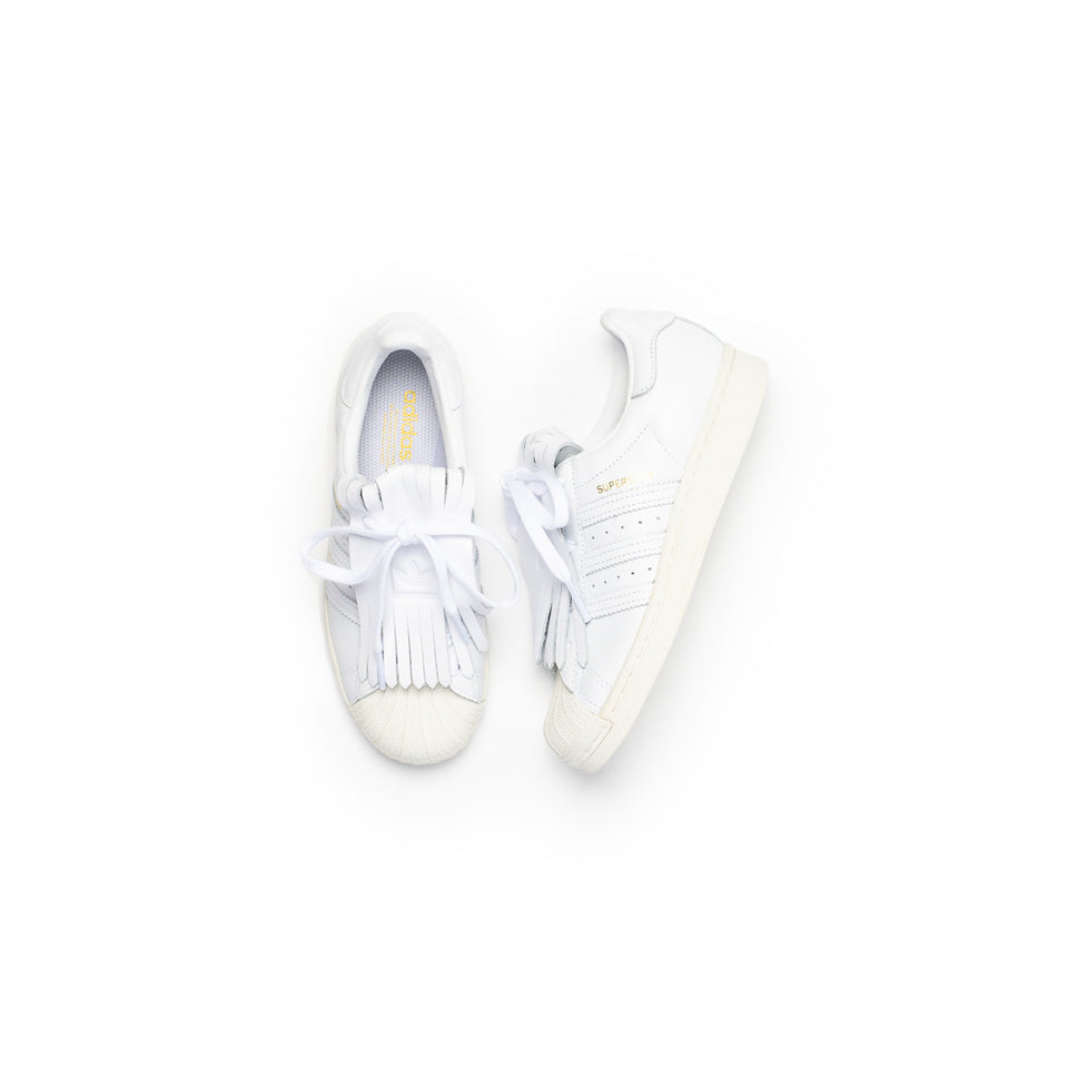 Adidas Women's Superstar FR (Footwear White/Off White-Gold Metallic) - Adidas