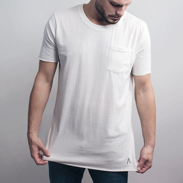 North and Acrux Split Hem Tee (White)