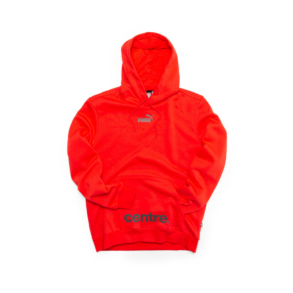 Centre X Puma Pullover Hoodie (Red) - Centre Hoodies/Sweatshirts