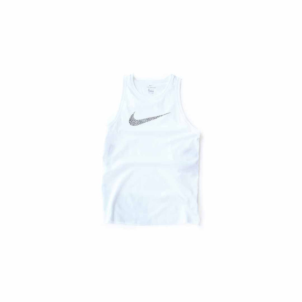 Nike Women's Dri-Fit Leopard Tank (White)