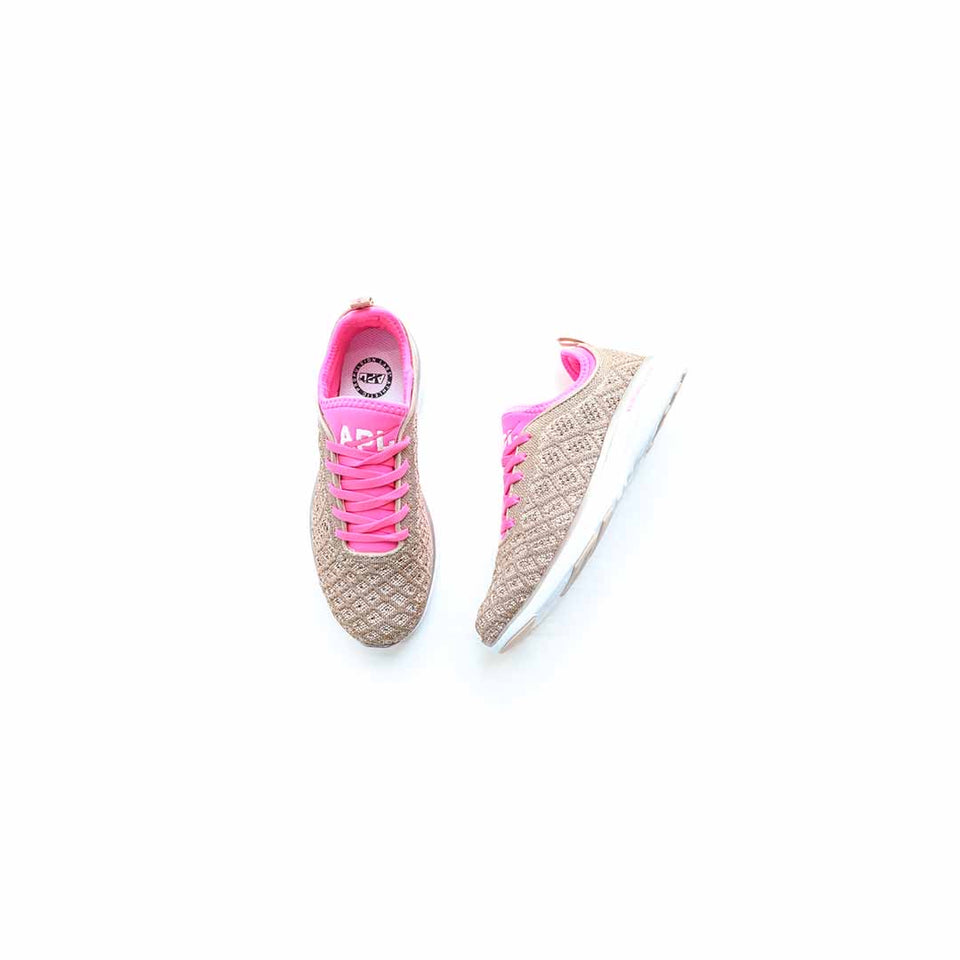 APL Women's Techloom Phantom (Rose Gold/Fusion Pink/White) - APL