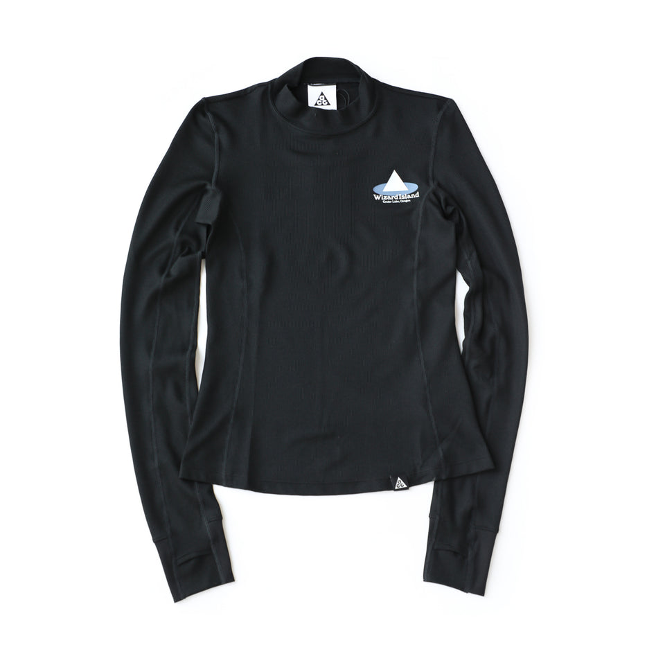 Nike Women's ACG 'Wizard Island' Long-Sleeve Top (Black/Summit White) - Women's - Tees & Tanks