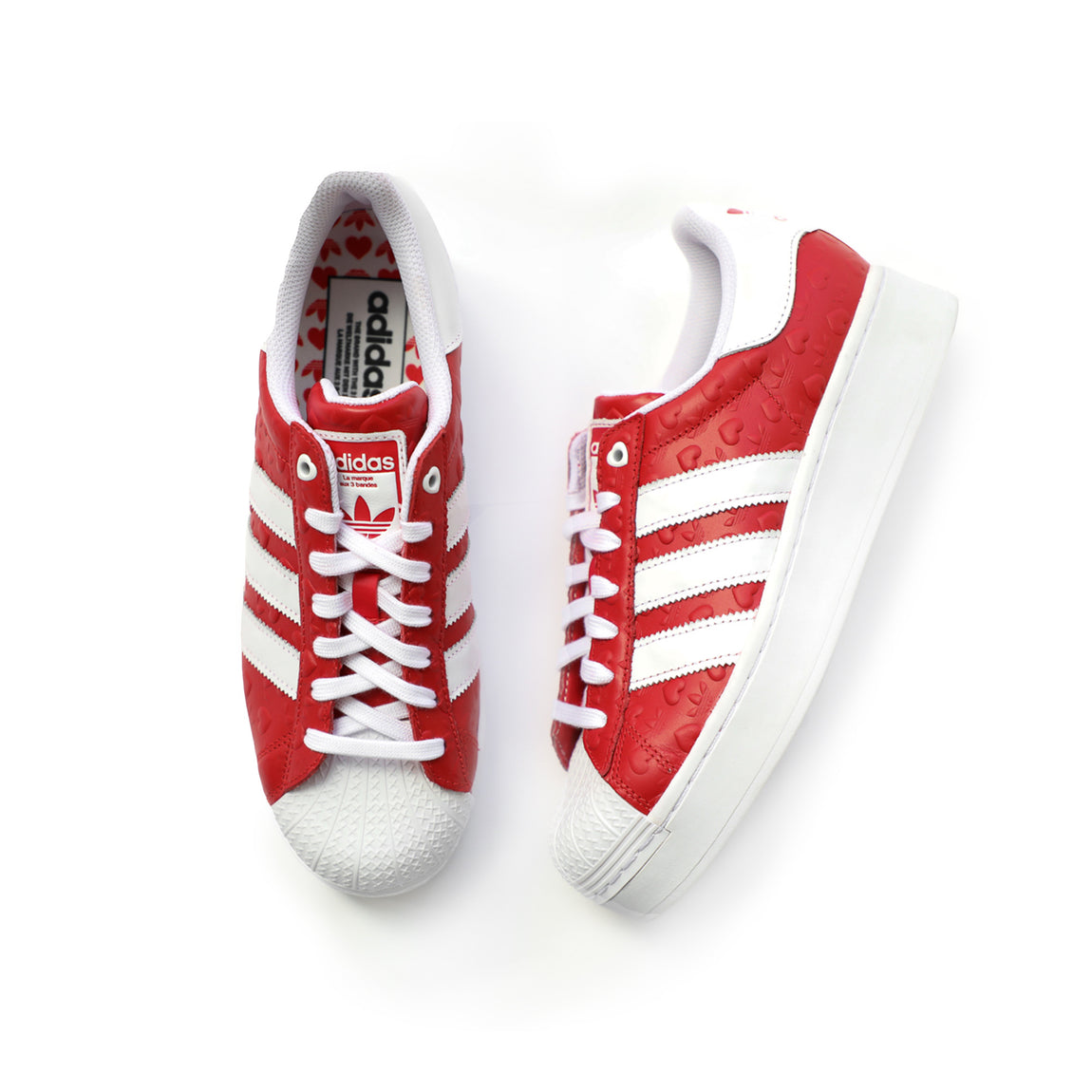 Adidas Women's Superstar Bold (Scarlet/ Core Black/Cloud White) - Adidas Women's Superstar Bold (Scarlet/ Core Black/Cloud White) -
