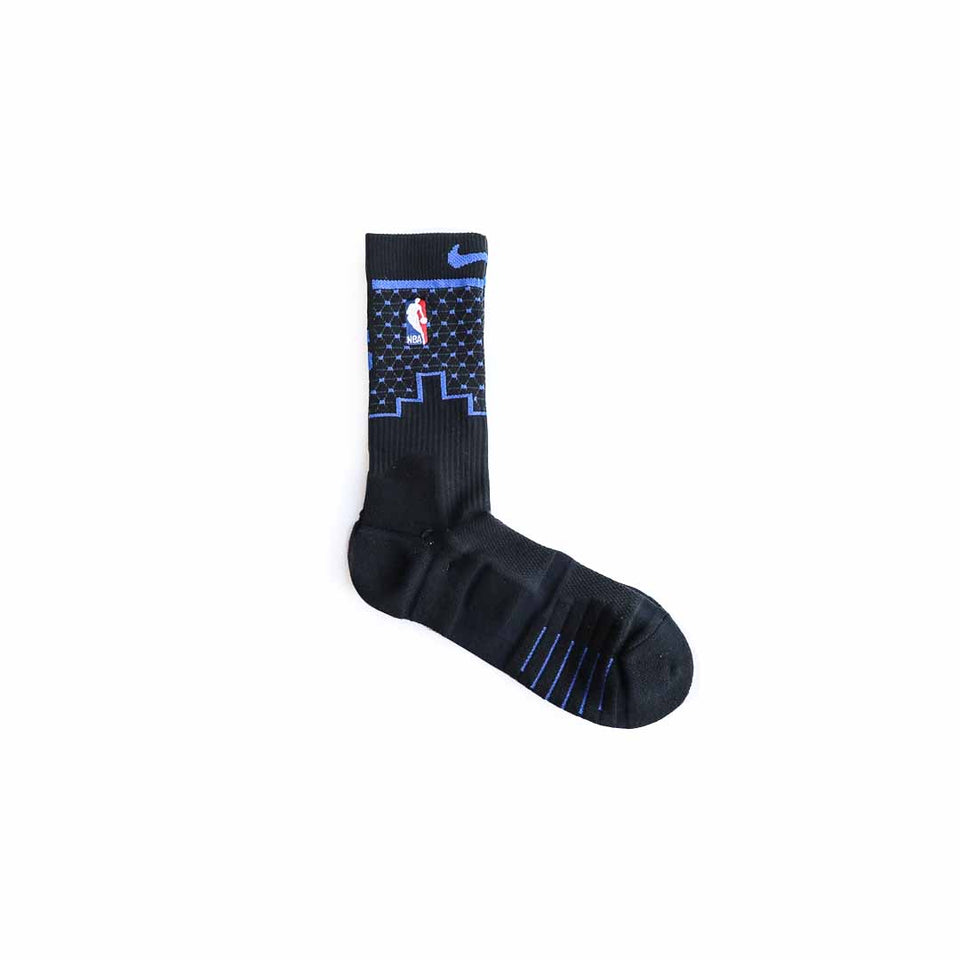 Dallas Mavericks Nike Elite Quick Crew (Black/Game Royal) - Accessories - Socks