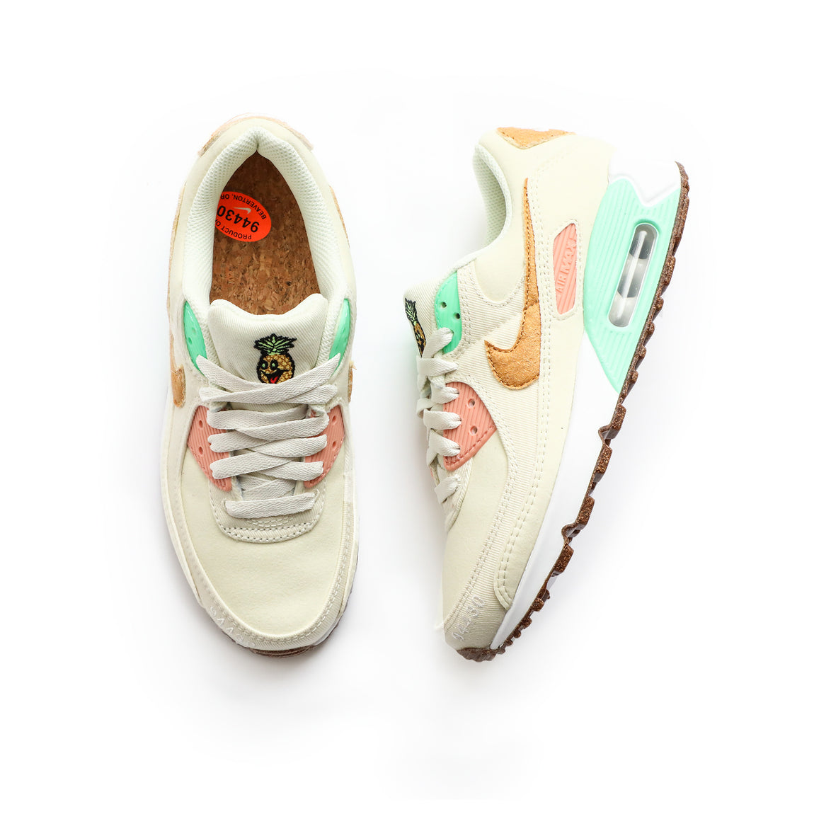 Nike Women's Air Max 90 LX (Coconut Milk/Metallic Gold) - Nike Women's Air Max 90 LX (Coconut Milk/Metallic Gold) -