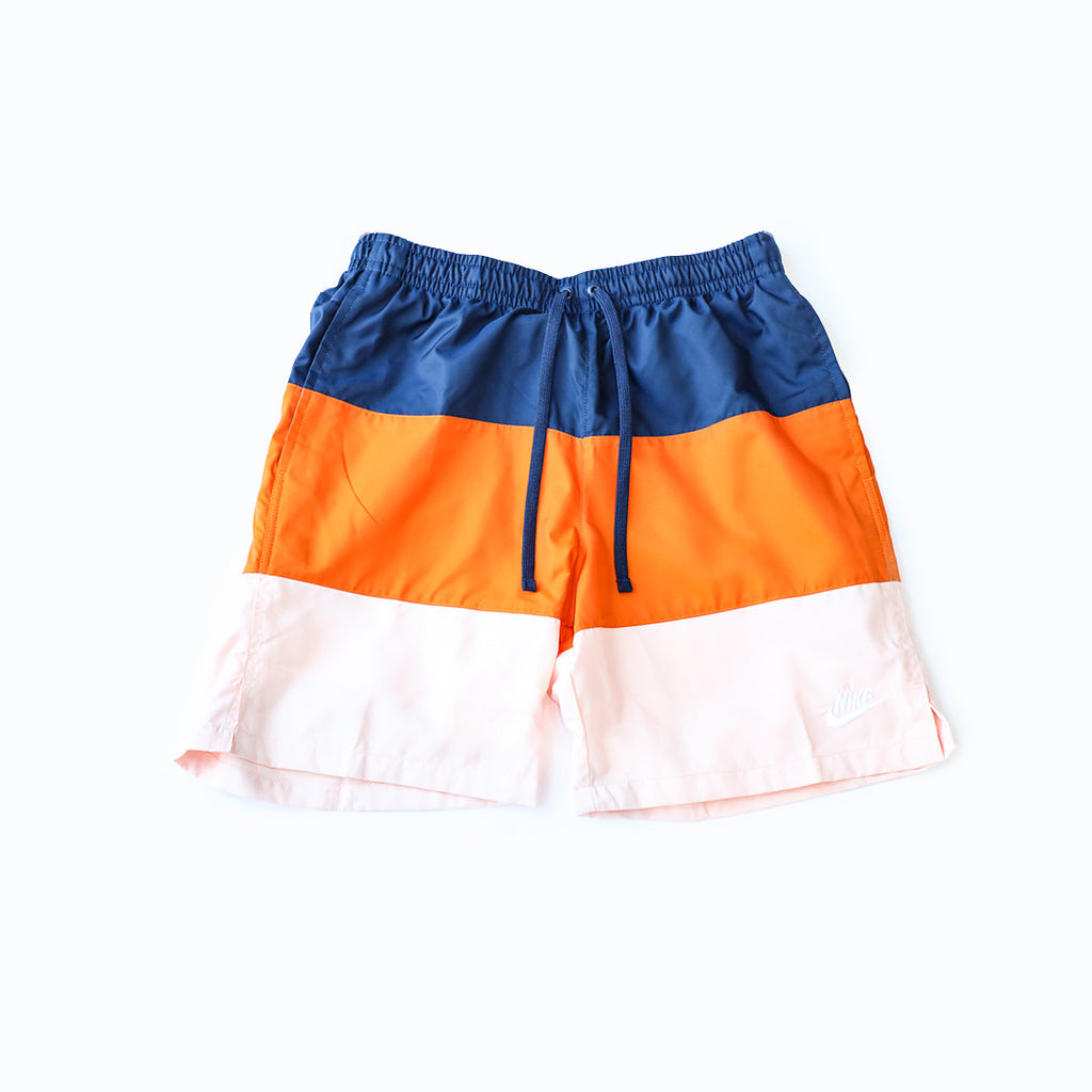 Nike Sportswear City Edition Shorts (Midnight Navy/Magma Orange/White)