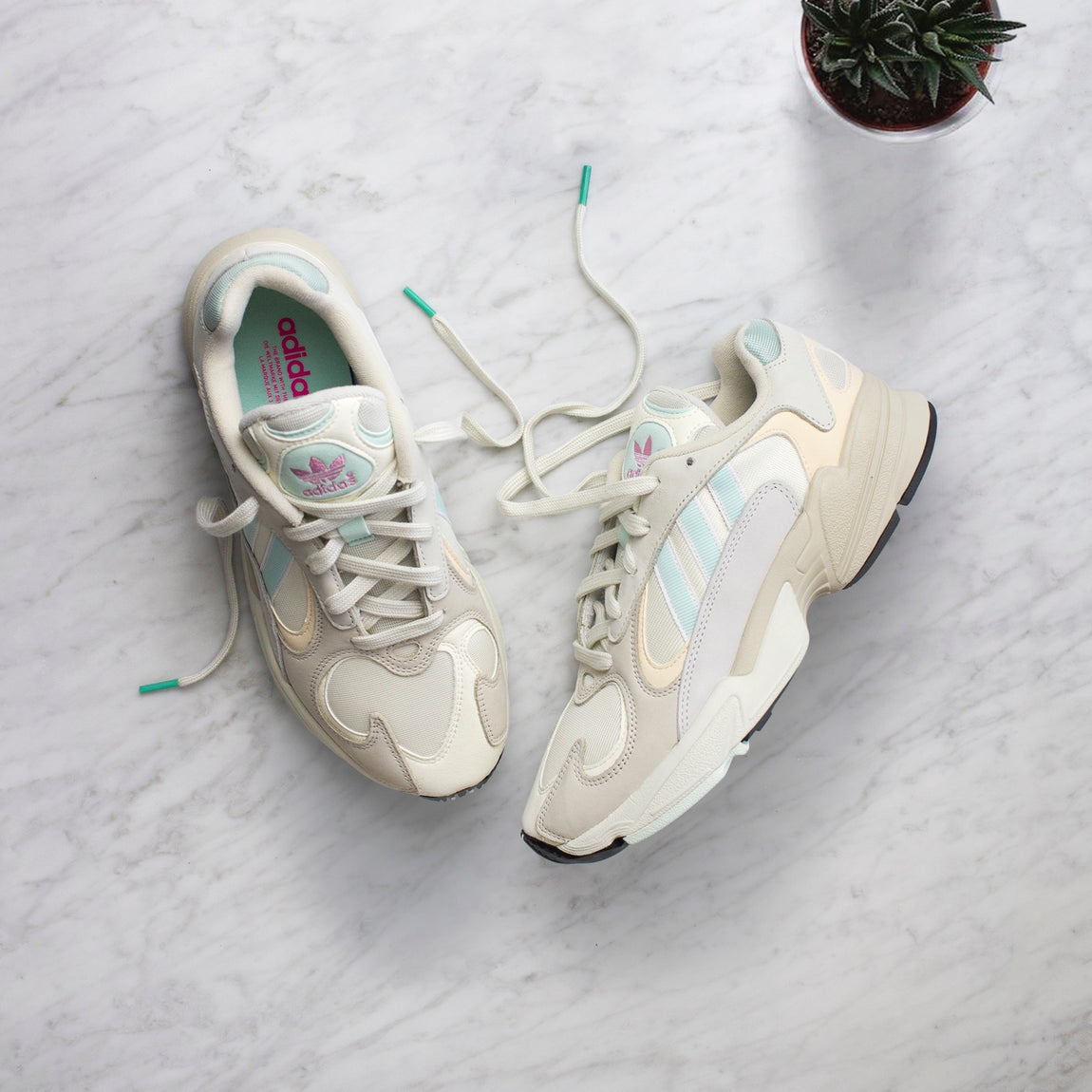 Adidas Yung-1 (Off White/Ice Mint) - Adidas Yung-1 (Off White/Ice Mint) -