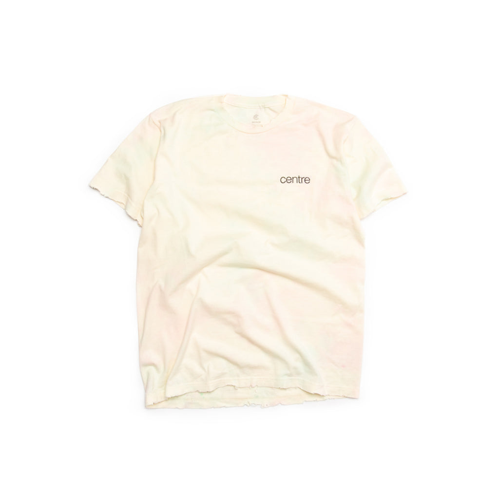 Centre Distressed Watercolor Mark Tee (Pink/Aqua)