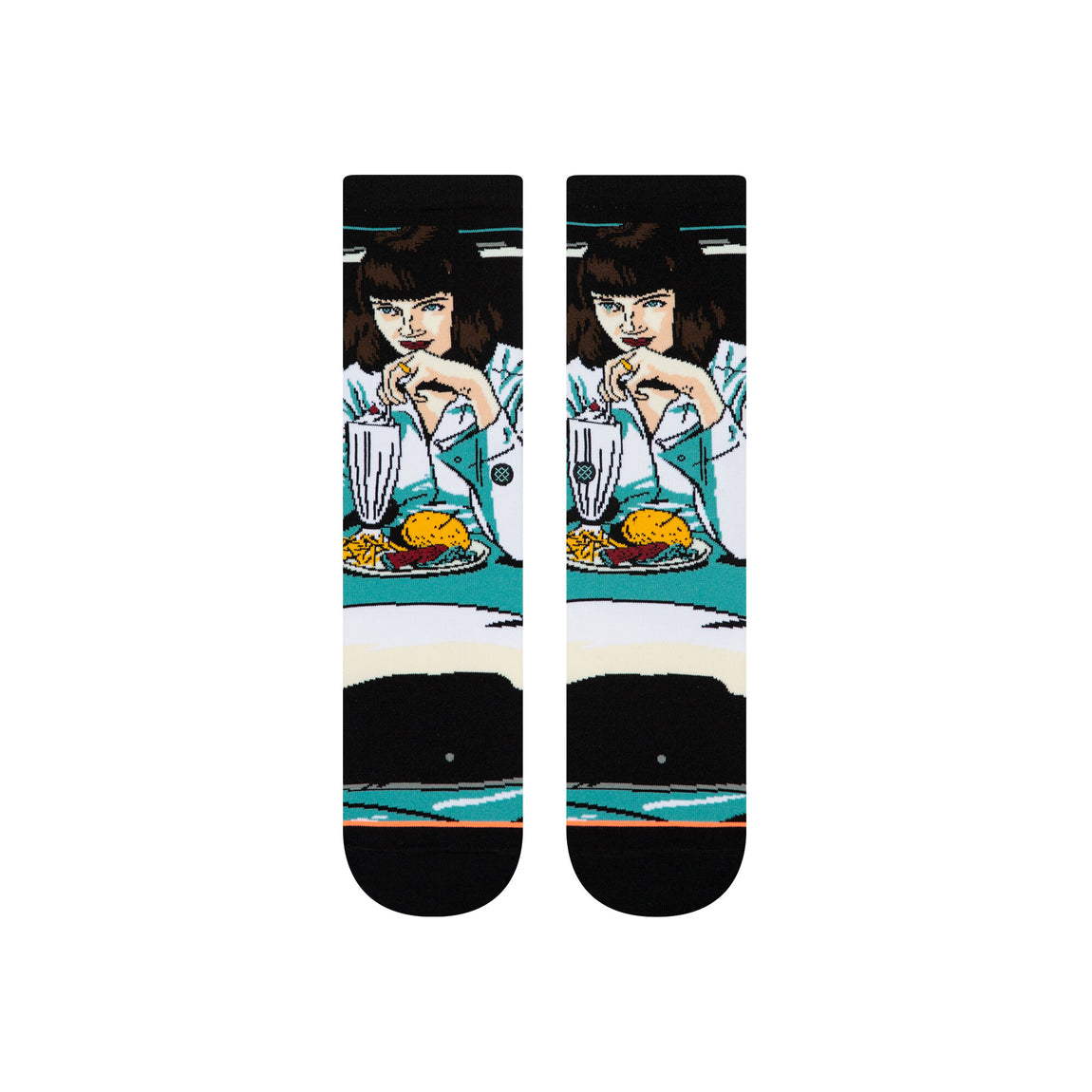 Stance Pulp Fiction Mia Booth Socks (Black) - Stance Pulp Fiction Mia Booth Socks (Black) -