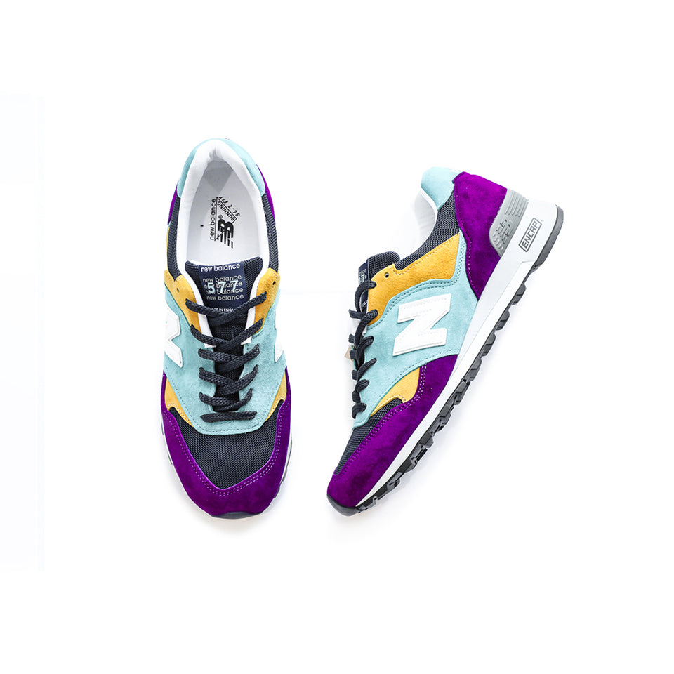 New Balance 577 Made In England (Purple/Yellow/Navy) - New Balance