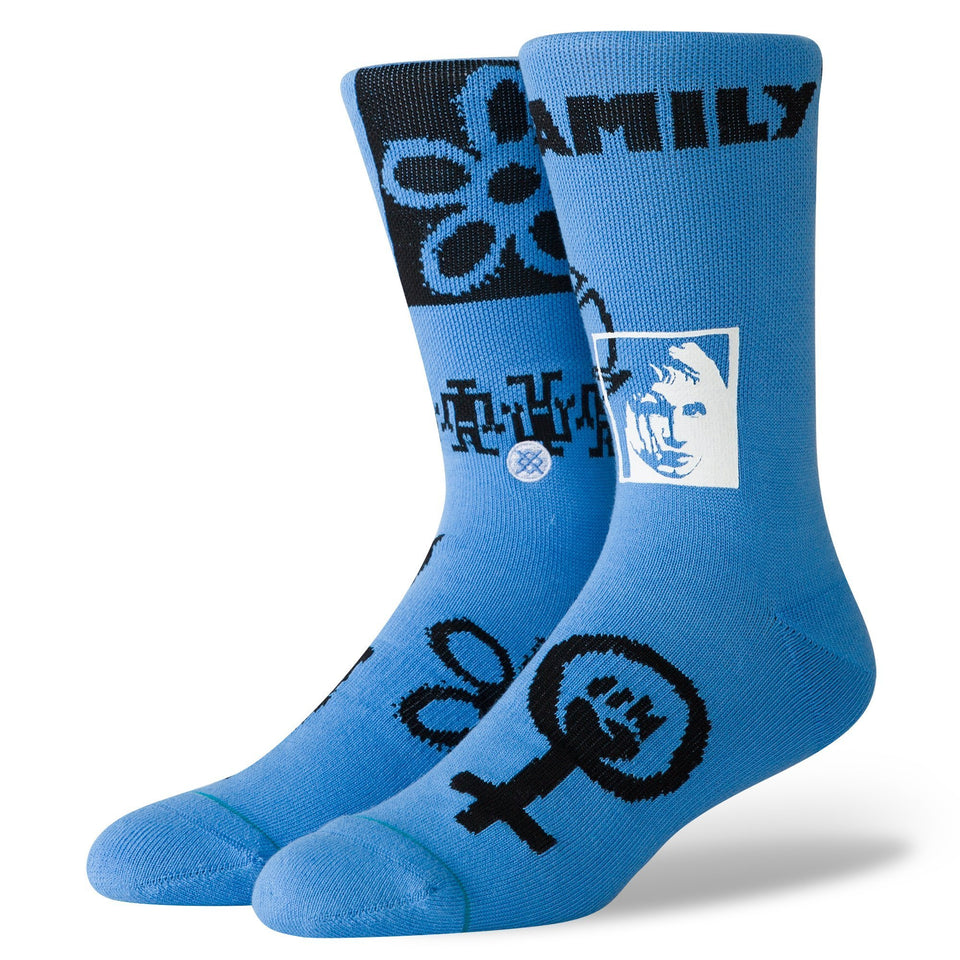 Stance Rebel Socks (Blue) - Accessories