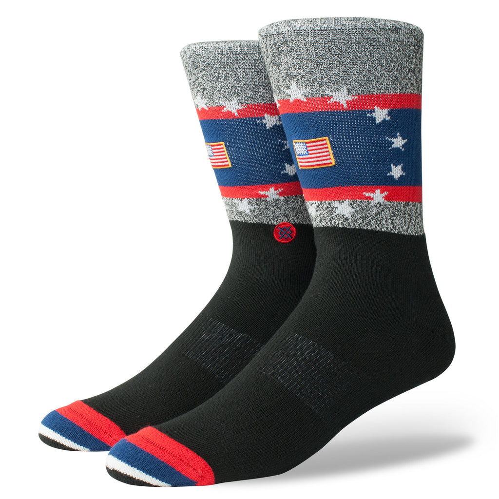 Stance USA Praise Socks (Black/Red-Blue)