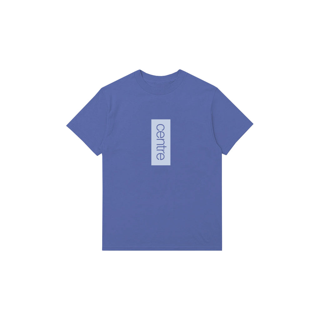 Centre Vertical Tee (Mystic Blue)