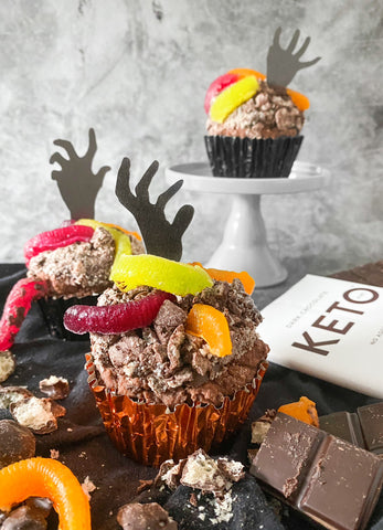 Keto Muffin decorated for halloween