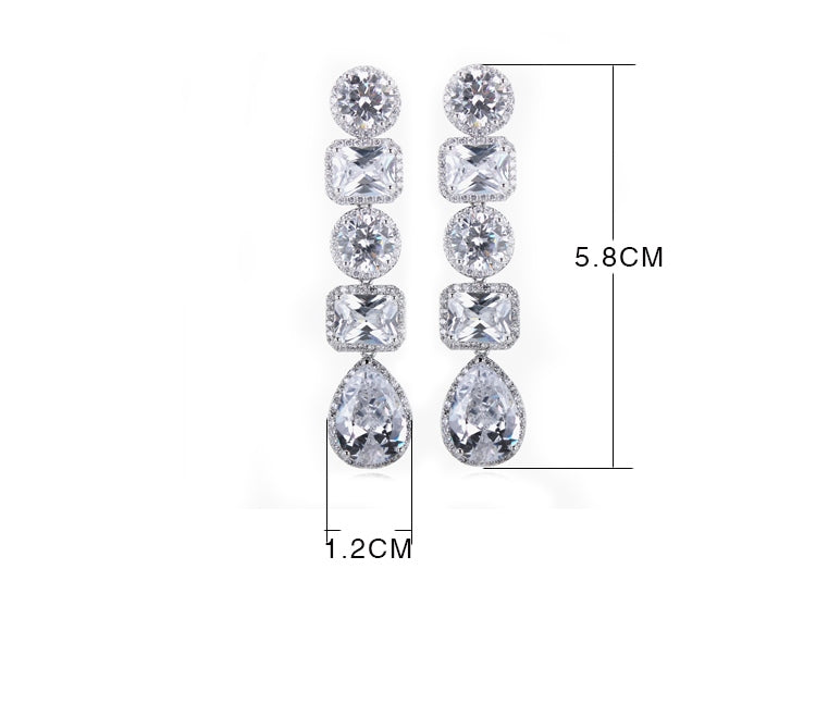 Lilly chandelier drop earrings- zirconia - ebrook lael