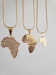 Africa Map Pendant Necklace  (TF) - ebrook lael