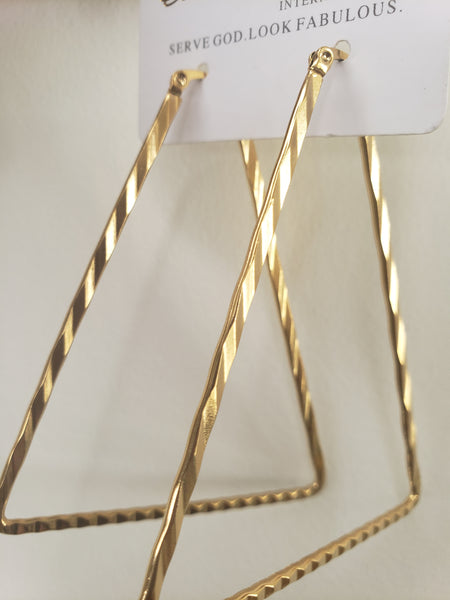 Geo Triangle earring Hoops (TF) - ebrook lael