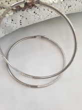 Load image into Gallery viewer, Medium silver hoops (TF) - ebrook lael