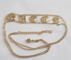 QUEEN old English Choker 18k (TF) - ebrook lael